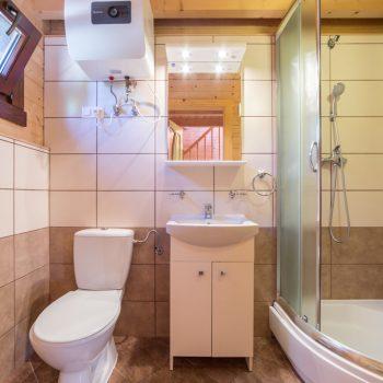 Łazienka domku piętrowego typu Bliźniak